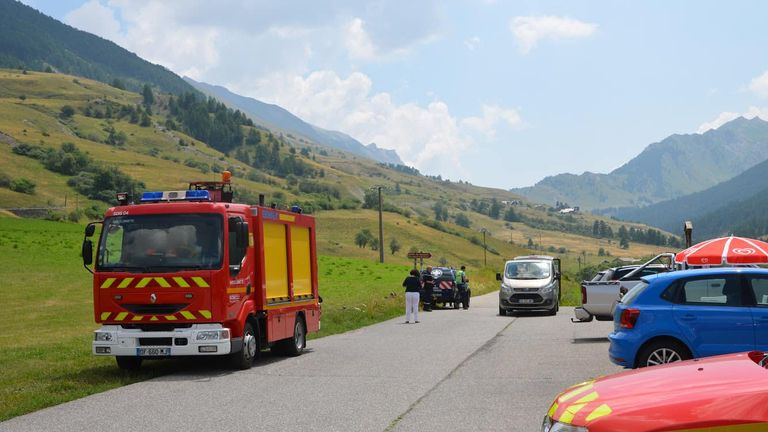 Emergency services at the scene. Pic:  A.DERLAOUI/Communication SDIS04