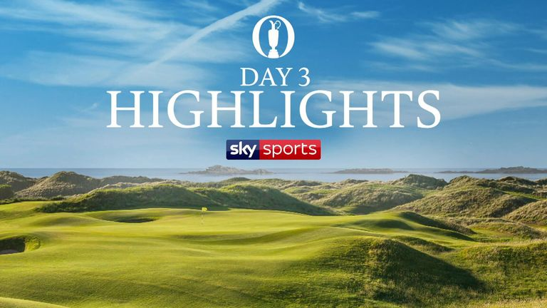 Highlights from the third round of The 148th Open Championship from Royal Portrush.