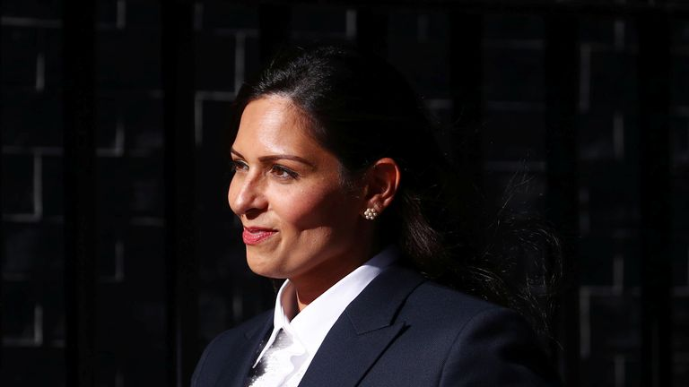 Priti Patel appointed home secretary