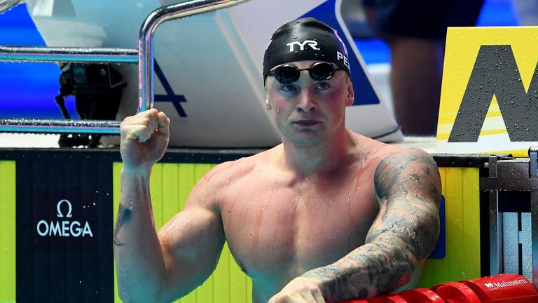 Adam Peaty broke a world record
