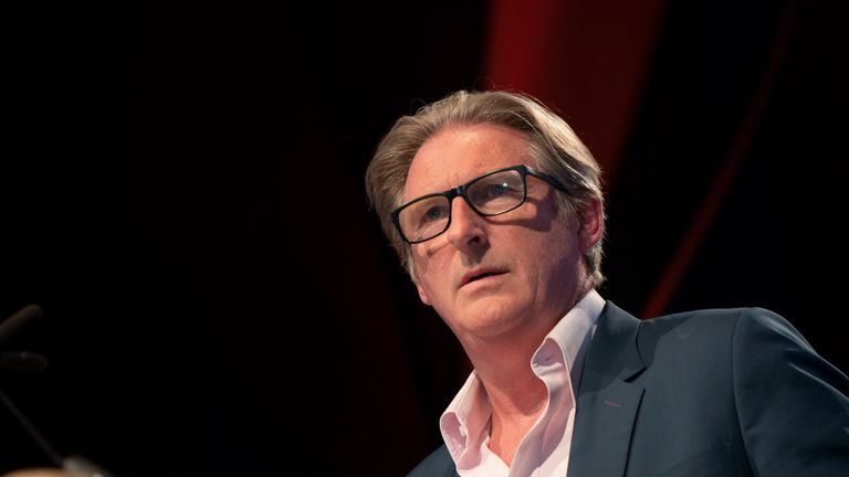 HAY-ON-WYE, WALES - JUNE 1: Adrian Dunbar, actor, during the 2019 Hay Festival on June 1, 2019 in Hay-on-Wye, Wales