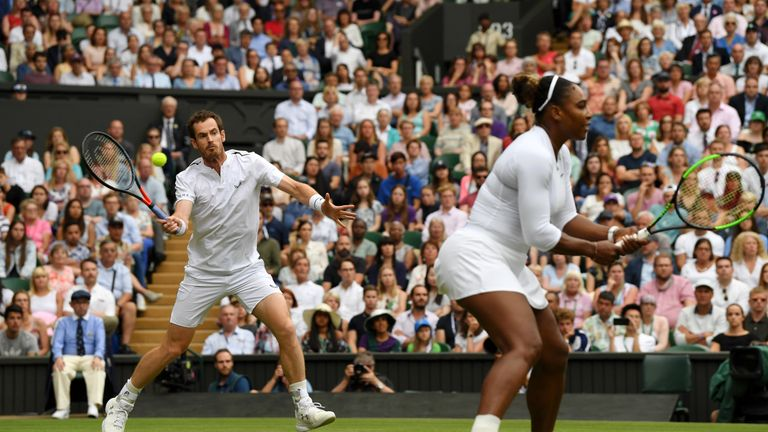 Andy Murray partnered Serena Williams in the mixed doubles at Wimbledon this year