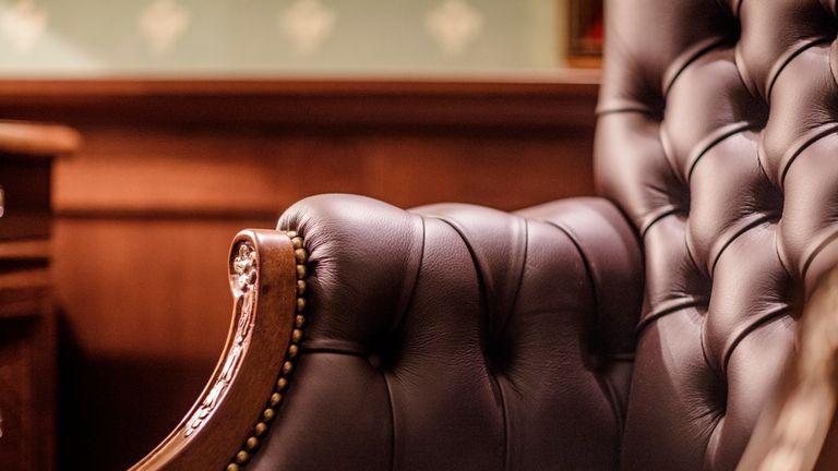 Soft leather armchair
