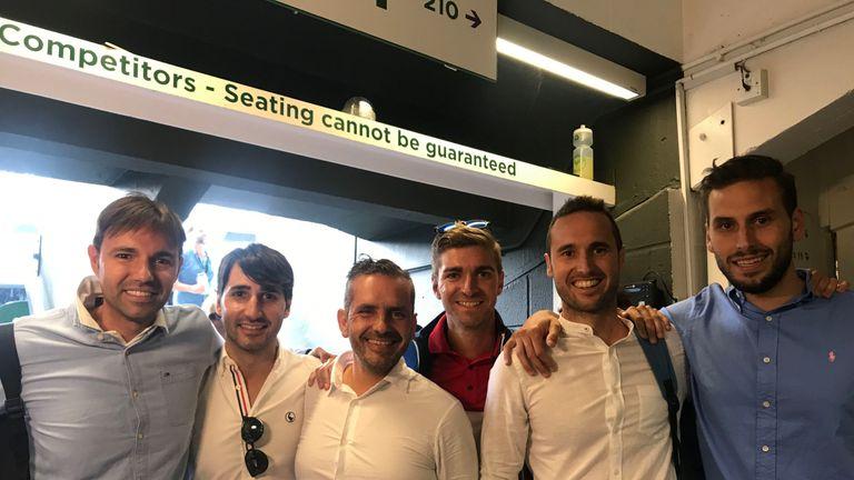 Roberto Bautista Agut's stags Kiko Renau, Ignacio Renau, Daniel Ramos, Blas Gallego, Alberto Febrer and Jorge Goenaga