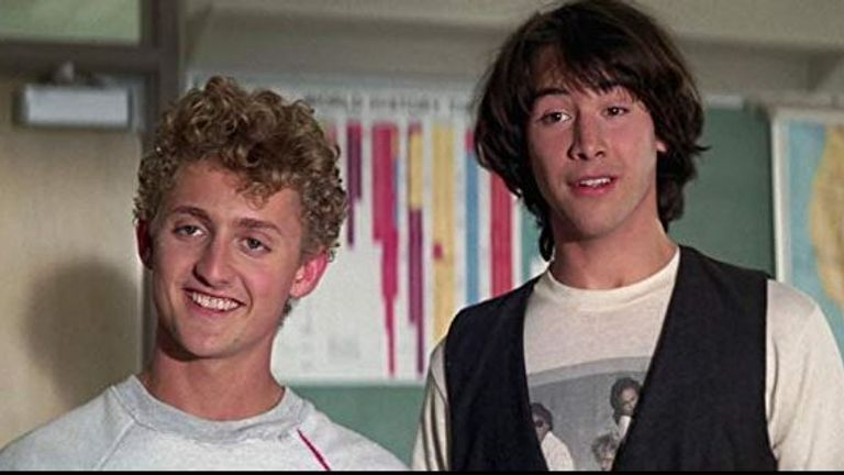 Bill & Ted's Excellent Adventure - Alex Winter and Keanu Reeves