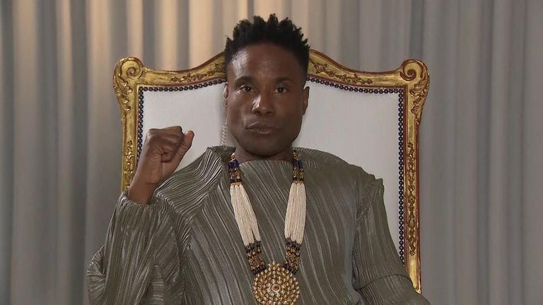"""Performer Billy Porter says Pride is a """"protest and a party"""" that helps build """"a sense of community"""""""