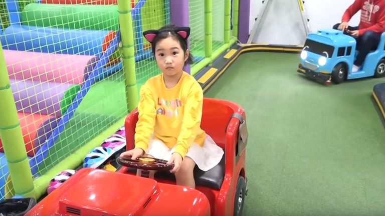 Boram, from South Korea, is a star on YouTube. She makes millions from her videos of playtime. Pic: YouTube