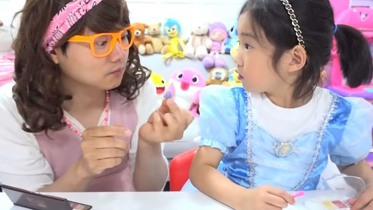 Boram is from South Korea and makes millions from her videos of playtime. Pic: YouTube