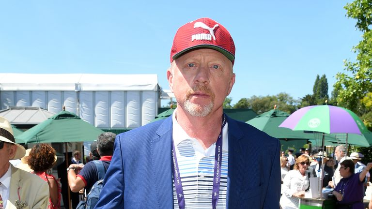 Boris Becker at Wimbledon this year