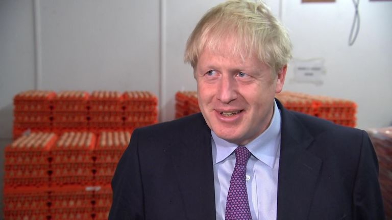 Prime minister Boris Johnson cracked some 'Breggsit' jokes before an interview where he discussed the state of Brexit negotiations