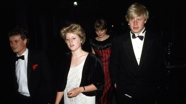 Here we see Mr Johnson and sister Rachel at Viscount Althorp's 21st birthday party. Pic: Richard Young/Shutterstock