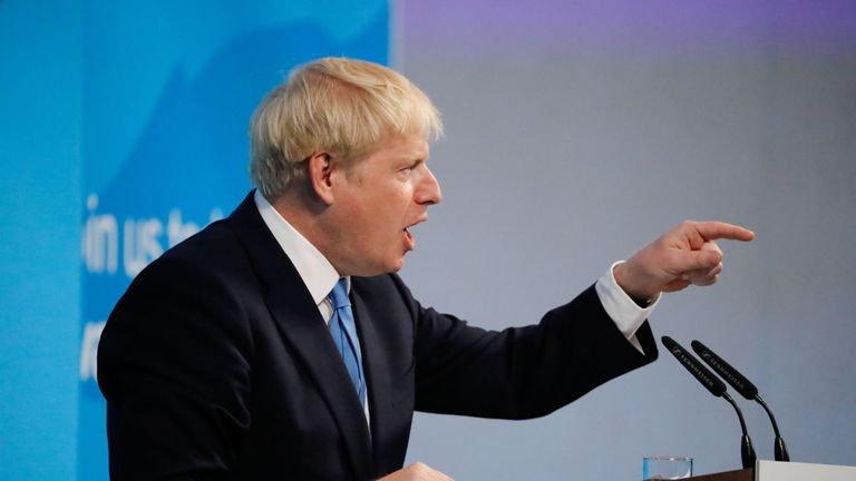 New Conservative Party leader and incoming prime minister Boris Johnson