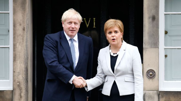 Boris Johnson and Nicola Sturgeon met in Edinburgh earlier