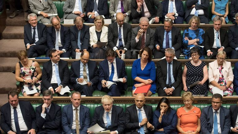Conservative MPs were positively cheering the pugnacious pose Mr Johnson struck. Pic: UK Parliament