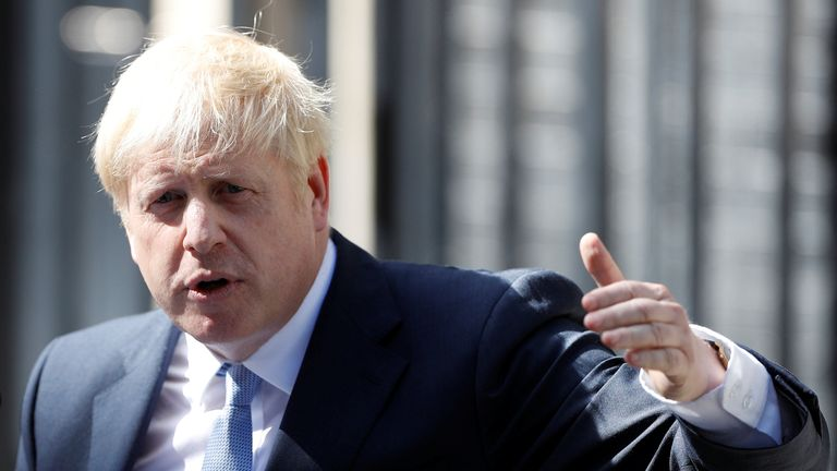 Boris Johnson delivered his first speech as prime minister, in which he  promised to take personal responsibility for the change he wants to see