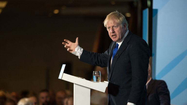 Mr Johnson has said he wants Britain to 'radiate love'