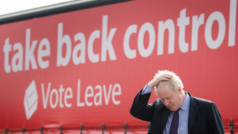 Weeks after announcing he would be backing Vote Leave, Mr Johnson delivered his first keynote speech at a haulage firm in Dartford, Kent