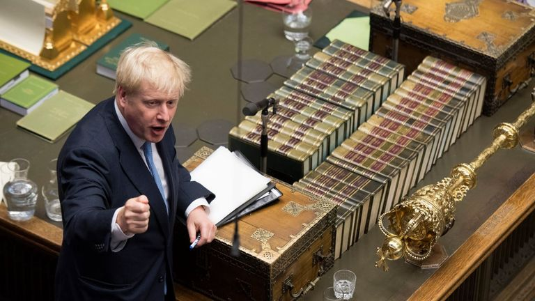 Mr Johnson took 129 questions in his opening Commons appearance. Pic: UK Parliament