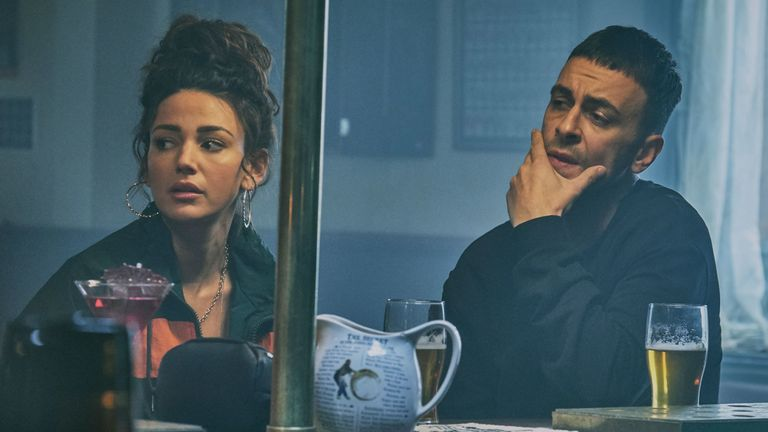 Michelle Keegan and Joe Gilgun star in new Sky One comedy Brassic. Pic: Sky One/ NOW TV