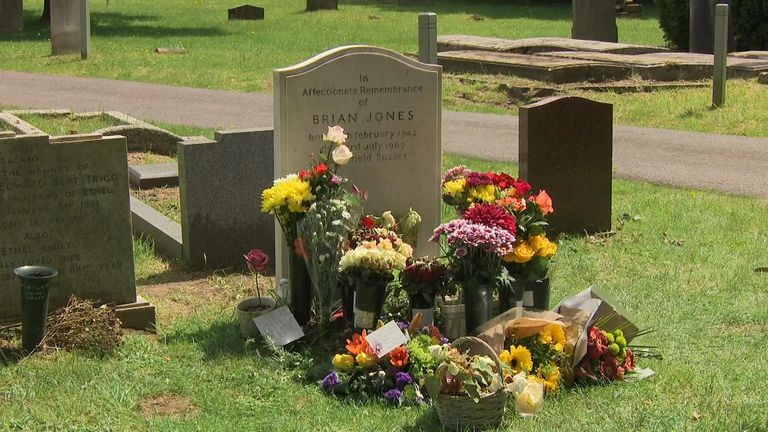 Brian Jones died on 3 July 1969