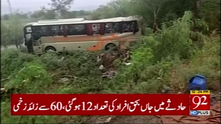 Survivors said the bus had been speeding on a wet road