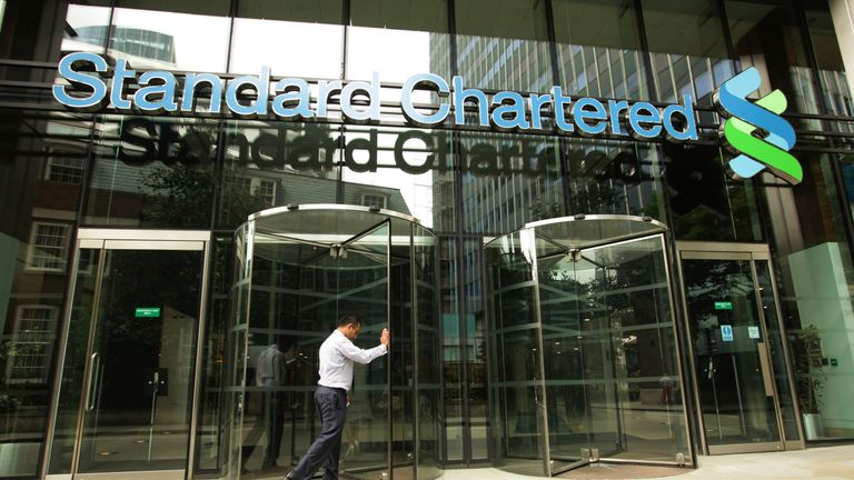 A general view of the Standard Chartered building in the City of London,.  Photo credit should read: Yui Mok / PA Wire