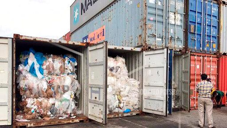 Cambodia to return shipping containers filled with plastic waste to US and Canada