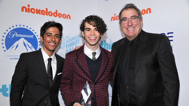 Boyce with director Kenny Ortega