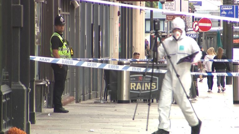 Police were called to St Mary Street in Cardiff city centre. A man died.