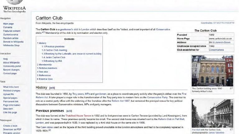 Carl Beech was found to have researched the Carlton Club