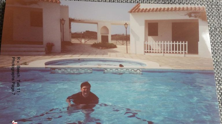 Carl Beech enjoyed swimming and did so all over the world