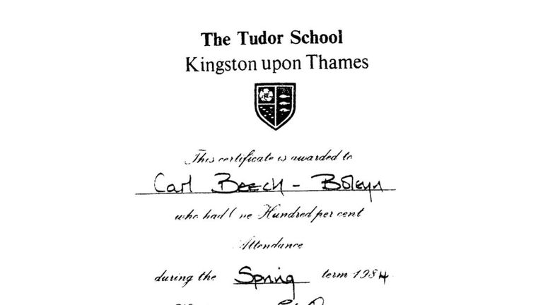 Beech once received a school  award for 100% punctuality