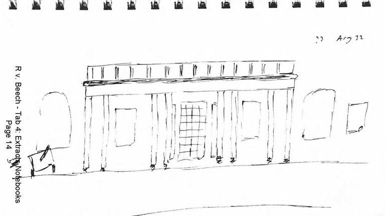 Beech drew the Carlton Club in London