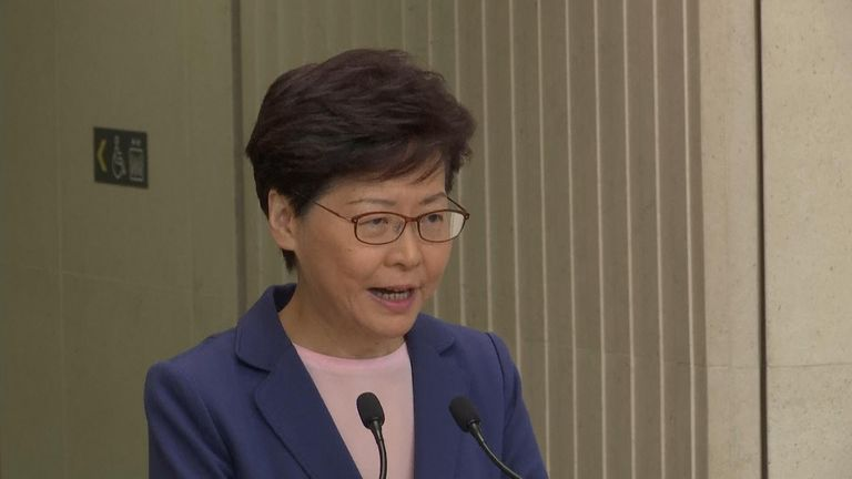 Carrie Lam has been under intense pressure over the extradition bill