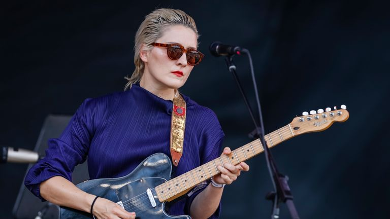 Cate Le Bon performs on day two of the Pitchfork Music Festival at Union Park on July 20, 2019 in Chicago, Illinois