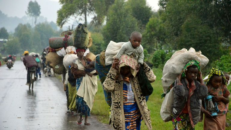 People across Congo have been displaced by fighting between the army and rebel troops over the years