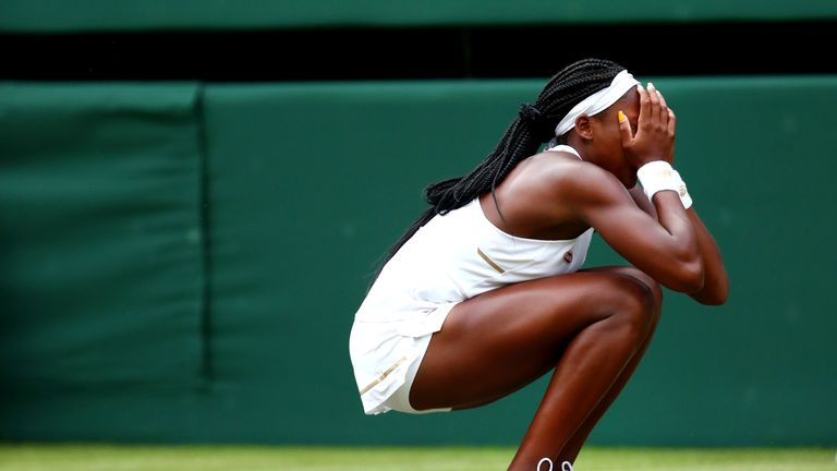 Cori Gauff said she 'didn't really know how to feel' after winning