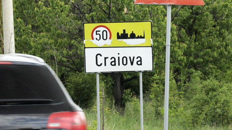 Craiova - a town in rural Romania where underage sex workers are seen working by the roadside