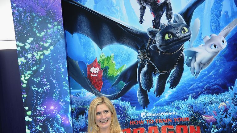 """Cresida Cowell arrives for Universal Pictures And DreamWorks Animation Premiere Of """"How To Train Your Dragon: The Hidden World""""  held at Regency Village Theatre on February 9, 2019 in Westwood, California."""
