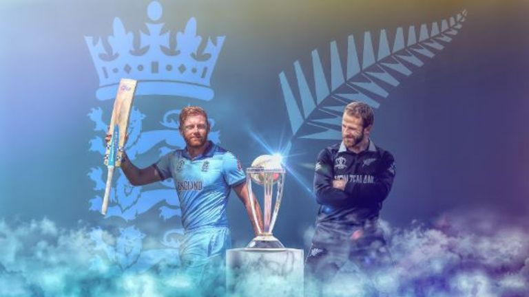 England are aiming to win the Cricket World Cup for the first time when they take on New Zealand at Lord's