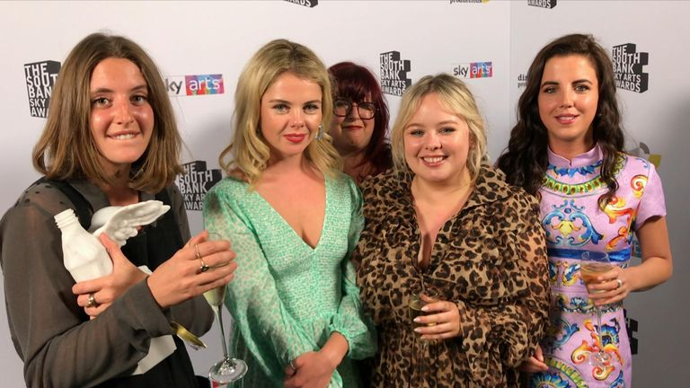 Derry Girls won the comedy award at the South Bank Sky Arts Awards