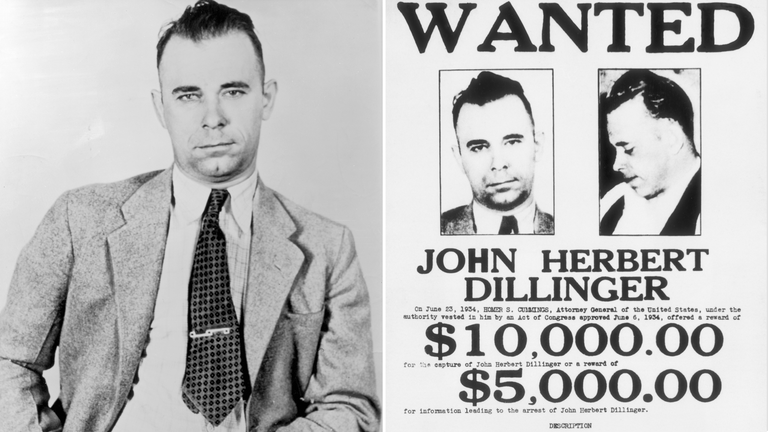 John Dillinger was a notorious 30s gangster