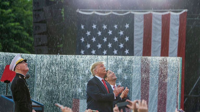 Donald Trump spoke at a 'Salute to America' event to mark Independence Day