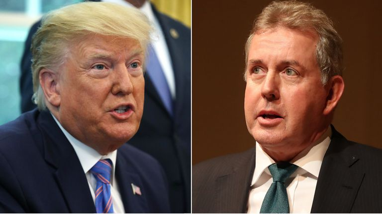 Donald Trump and Sir Kim Darroch