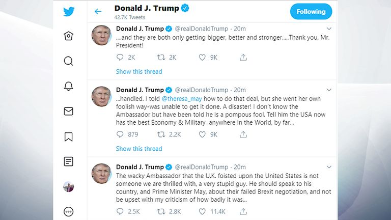 Donald Trump's tweets