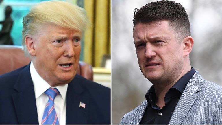 Donald Trump and Tommy Robinson