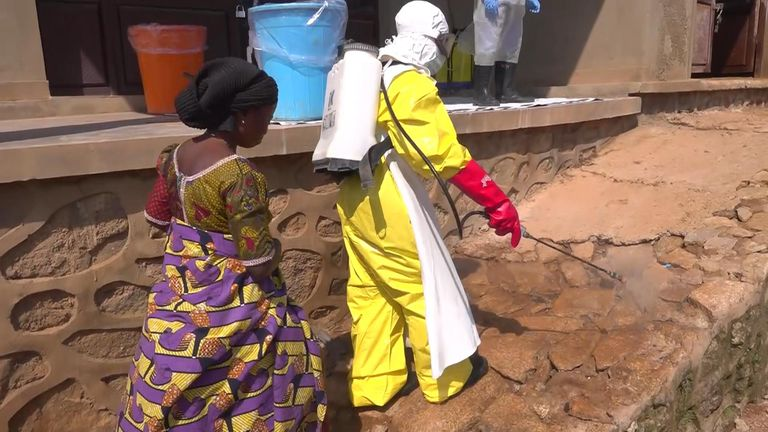 Burial teams take no risks when it comes to dealing with bodies of those who have died from Ebola