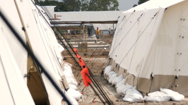 MSF is building an Ebola treatment centre