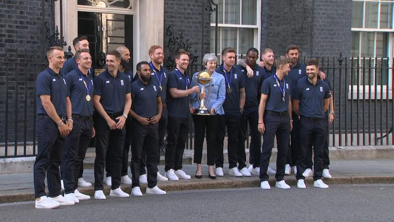 England's World Cup winners meet Theresa May