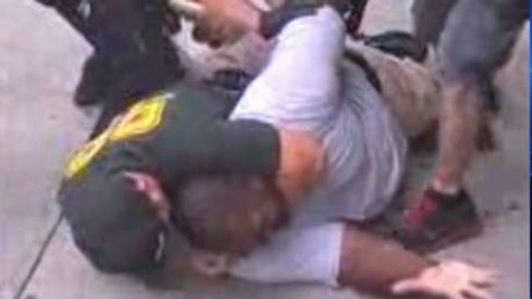 Eric Garner repeatedly said he couldn't breathe as he was in the chokehold